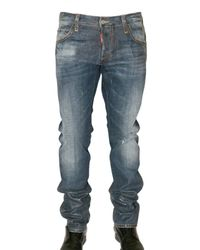 DSquared² | Blue Semi Coated Slim Denim Jeans for Men | Lyst