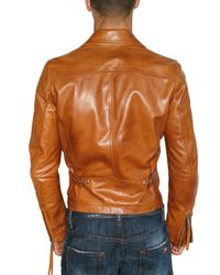 DSquared² - Orange Horse Leather Kiodo Bomber Leather Jacke for Men - Lyst