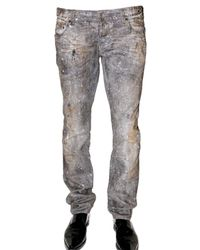 DSquared² | Gray Glitter Slim Denim Jeans for Men | Lyst