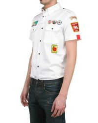 DSquared² | White Heavy Cotton Twill Shirt for Men | Lyst