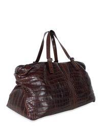 Ferragamo | Brown Crocodile Zip Luggage for Men | Lyst