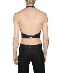 Gareth Pugh - Black Leather Neoprene Top for Men - Lyst