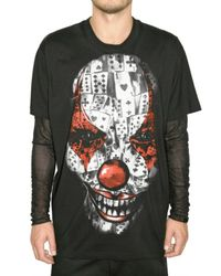 Givenchy | Black Clown Printed Poplin Shirt for Men | Lyst