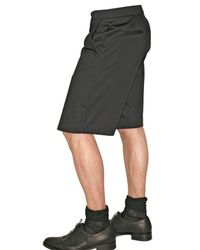Givenchy - Black Gabardine Cotton Skirt Shorts for Men - Lyst