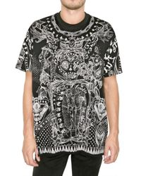 Givenchy | Black Printed Jersey Oversized T-shirt for Men | Lyst