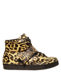 Givenchy | Multicolor Leopard Print High Top Calfskin Sneakers for Men | Lyst