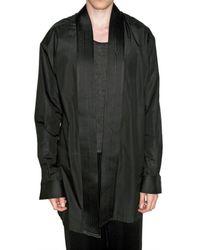 Haider Ackermann - Black Cotton Poplin Kimono Style Shirt for Men - Lyst