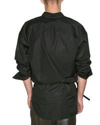 Haider Ackermann | Black Cotton Poplin Long Shirt for Men | Lyst