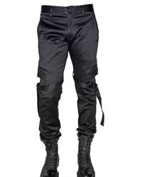 Kiryuyrik | Black Twill Cotton Cargo Trousers for Men | Lyst