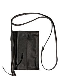 Kris Van Assche | Black Calf Shoulder Bag for Men | Lyst