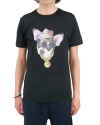 Lanvin - Black Dog Jersey T-shirt for Men - Lyst