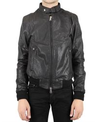 Meatpacking D | Black Washed Calf Leather Jacket for Men | Lyst