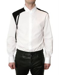 Neil Barrett | White Bretella Poplin Shirt for Men | Lyst