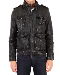Neil Barrett | Black Washed Buffalo Leather Jacket for Men | Lyst