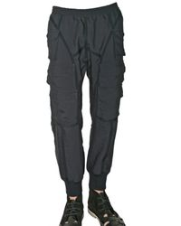 Neil Barrett | Blue Light Twill Cargo Trousers for Men | Lyst