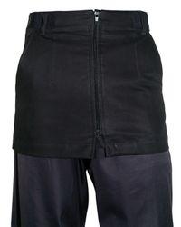 Raf Simons - Blue Light Cotton Gabardine Skirt for Men - Lyst