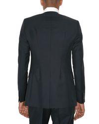 Raf Simons - Blue Wool Canvas Closureless Jacket for Men - Lyst