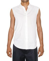 Raf Simons | White Back Zipped Striped Poplin Shirt for Men | Lyst