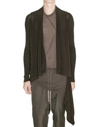Rick Owens | Green Sheer Nylon Blend Knit Sweater for Men | Lyst