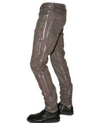 Rick Owens - Brown Slim Fit Silver Denim Jeans for Men - Lyst