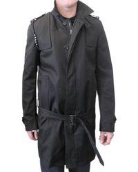 Simon Spurr | Black Egyptian Cotton Twill Trench Coat for Men | Lyst