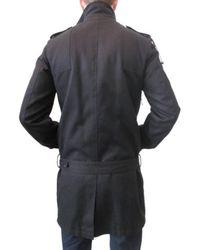 Simon Spurr - Black Egyptian Cotton Twill Trench Coat for Men - Lyst