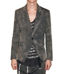 Tom Rebl | Black Tie-dyed Linen Canvas Jacket for Men | Lyst