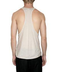 Tom Rebl | White Cut Out Printed Jersey Tank Top for Men | Lyst