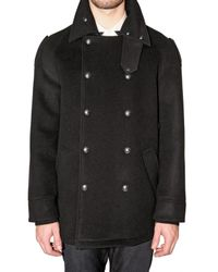 Viktor & Rolf | Black Belted Collar Pea Coat for Men | Lyst