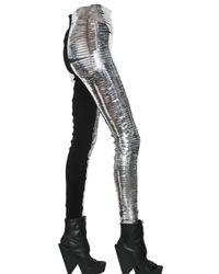 Gareth Pugh - Slit Metallic Pvc Trousers - Lyst