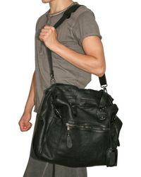 Giorgio Brato - Black Washed Nappa Shoulder Bag for Men - Lyst