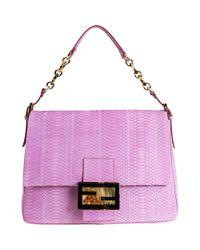 45a4016169f1 Fendi Big Mama Shoulder Bag in Purple - Lyst