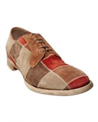Officine Creative | Multicolor Patchwork Suede Lace-up Shoes for Men | Lyst
