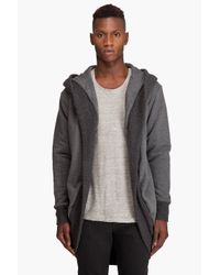 Chronicles Of Never | Gray The Womb-fleece Jacket for Men | Lyst