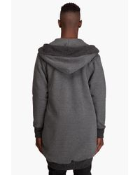 Chronicles Of Never - Gray The Womb-fleece Jacket for Men - Lyst