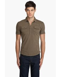 DIESEL - Green T-maya-rs Polo for Men - Lyst
