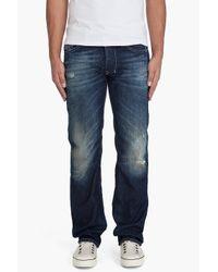 DIESEL | Blue Larkee 8ym Jeans for Men | Lyst