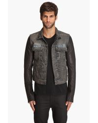 DRKSHDW by Rick Owens | Blue Denim Leather Jacket for Men | Lyst