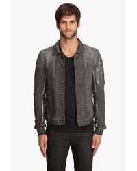 DRKSHDW by Rick Owens | Gray Mini Corduroy Jacket for Men | Lyst