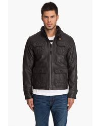 G-Star RAW | The Dryden Leather Jacket in Black for Men | Lyst