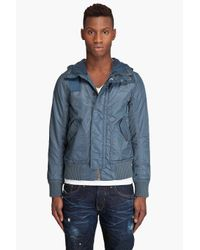 G-Star RAW | Blue Mfd Bomber Jacket for Men | Lyst