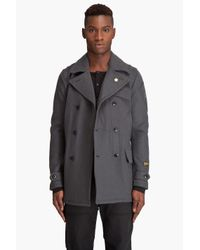 G-Star RAW - Gray Fleet Carrier Wool Coat for Men - Lyst