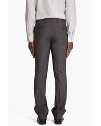 J.Lindeberg | Gray Mark Dressed Wool Trousers for Men | Lyst