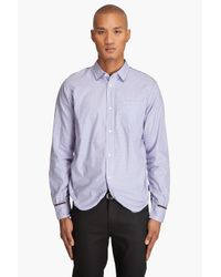 Junya Watanabe | Blue Button Down Shirt for Men | Lyst