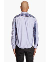 Junya Watanabe - Blue Button Down Shirt for Men - Lyst
