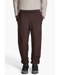 Lanvin | Brown Drawstring Pants for Men | Lyst
