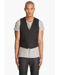 Nudie Jeans - Pal Dry Black Coated Vest for Men - Lyst