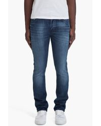 Nudie Jeans - Blue Thin Finn Organic Strikey Used Jeans for Men - Lyst