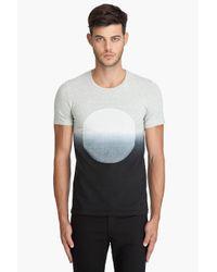 Robert Geller | Blue Dip Dye Circle T-shirt for Men | Lyst
