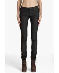 Acne | Black Kex Pleather Jeans | Lyst